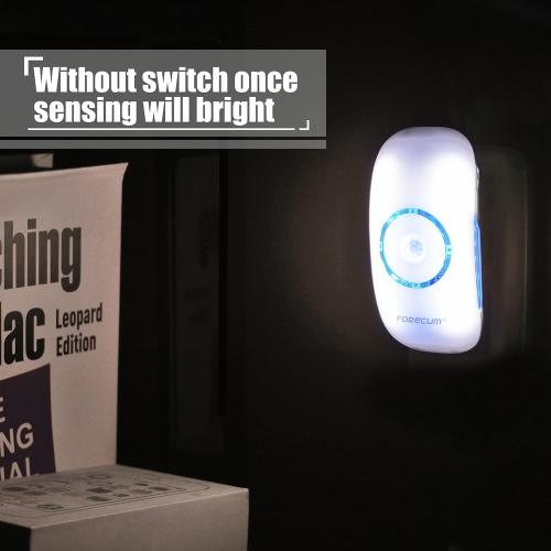 Buy FORECUM Portable PIR Motion Sensor Body Induction Light Control Smart Night Mini Emergency Wall Lamp Bedroom Living Room Stair 18 LEDs Cold White AC 80-260V