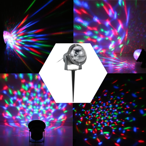 Buy 3W RGB LED Outdoor Lawn Garden Mini Crystal Magic Ball Project Lamp IP65 Water Resistant Stage Effect Light Halloween Christmas Disco DJ KTV Club Bar Wedding Home Party