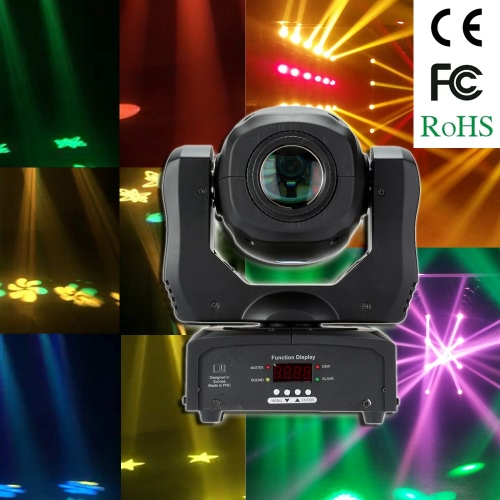Buy 35W DMX512 Sound Control Auto Rotating 9 / 11 Channels Rainbow 8 Colors Changing Head Moving Light LED Stage Gobo Pattern Lamp Disco KTV Club Party