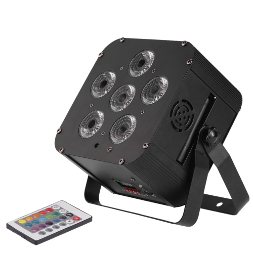 Buy 108W LED RGBWAP 6/10 Channel PAR Light Build-in Wireless DMX Receiver Rechargeable Battery Stage Lamp Remote Controller Support Sound Activation DJ Bar KTV Party