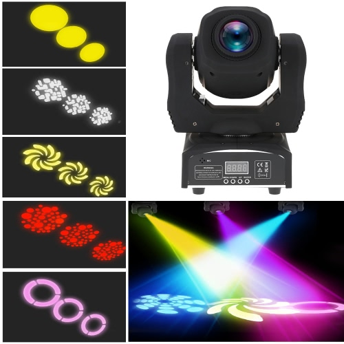 Buy 60W LED 8 Gobos Colors Moving Head Stage Effect Light RGBW 9/11 Channel Auto-run DMX512 Sound-activated Master-slave DJ Club Show Disco Party Bar Lighting