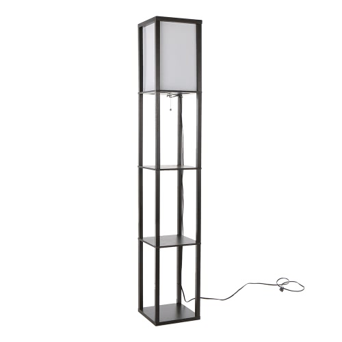 UL Listed 110-240V Creative 3 Layers Shelf Floor Lamp E27 Vertical Storage Rack Stand Light for Home Living Room Bedside Study Reading Decoration от Tomtop.com INT
