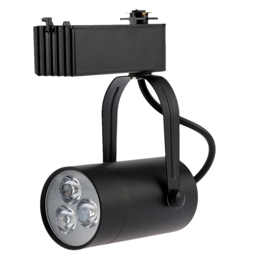 3W LED Track Rail Light Spotlight Adjustable for Mall Exhibition Office Use AC85-  265V от Tomtop.com INT