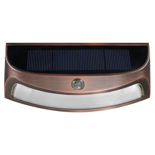 Buy 4 LED Copper Solar Power Phototonus Light Waterproof IP65 Outdoor Smiling Wall Lights Wirecurity Step Night Lamps Stair Garden Doorway Warm/Cool White