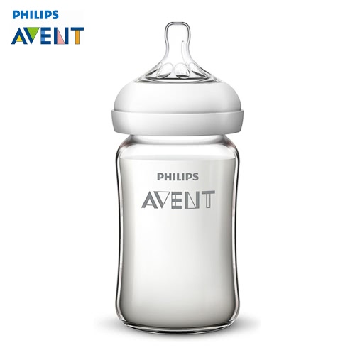 Buy PHILIPS AVENT Wide Neck Opening Natural Glass Bottle 240ml