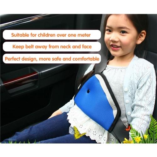 Safety Seat Belt Adjuster Positioner Cover Pad Harness for Kid Child Blue от Tomtop.com INT