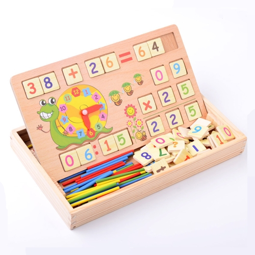 $2 OFF Wooden Number Counting Board Clock for Kids,free shipping $12.89