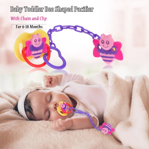 Buy Baby Toddler Bee Shaped Pacifier Chain Clip 6-18 Months