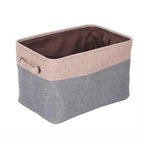 Foldable Fabric Storage Container Basket Bin Toy Clothing Organizer Box Uncovered Canvas with Handles For Bedroom   Laundry Toys Books 3 Pcs Grey от Tomtop.com INT