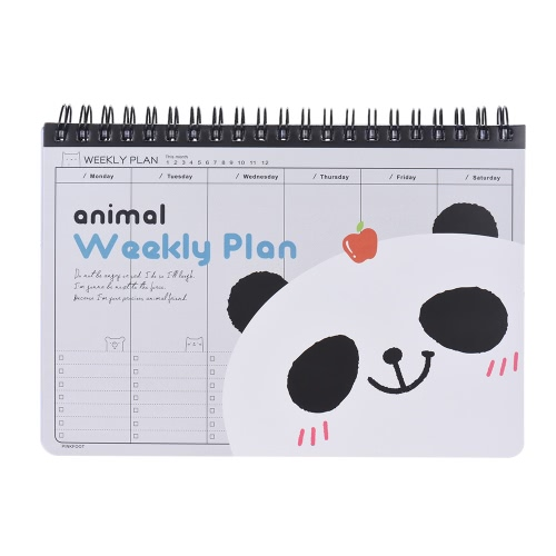 Buy Cute Animal Coil Weekly Planner Plan Agenda Schedule Travel Journal Diary Notepad Notebook Panda