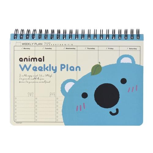 Buy Cute Animal Coil Weekly Planner Plan Agenda Schedule Travel Journal Diary Notepad Notebook Panda