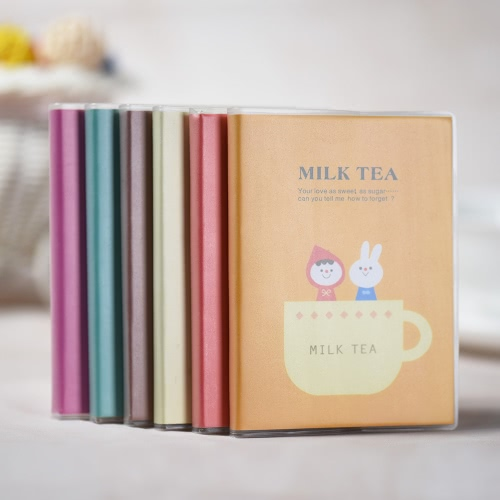 Buy Portable Mini Diary Notebook Notepad Pocket Book Journal Paper PVC Shell (6 Colors Random Delivery)