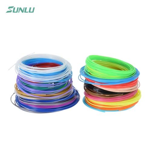 Buy Sunlu SL-BH005 2Per 5m/16.4ft Total 100m/328.1ft PLA 3D Printing Pen Printer Filament Refill 1.75mm Diameter Including 4 Luminated Color (20 Assorted Colors, Random Delivery)