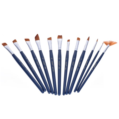 Buy Professional Artist Paint Brush Kit Including 1Nylon Hair Short Handle Watercolor Acrylic Gouache Oil Painting Brushes Color Palette Zippered Bag