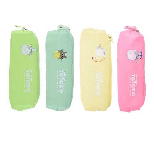 Buy Cute Jelly Soft Waterproof Pen Pencil Case Set Zipper Stationery Bags Lovely Cat Pattern Girls School Students