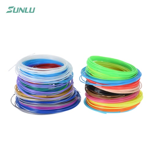 Buy Sunlu SL-BH005 2Per 5m/16.4ft Total 100m/328.1ft ABS 3D Printing Pen Printer Filament Refill 1.75mm Diameter Including 4 Luminated Color (20 Assorted Colors, Random Delivery)