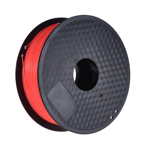 Color Optional PLA Filament 1kg-Roll 2.2lb 1.75mm for MakerBot Anet RepRap 3D Printer Pen Fluo-Red