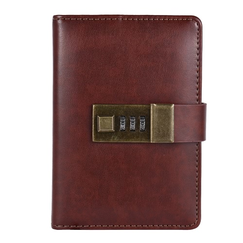 Buy Vintage A7 Pocket Notebooks Journals Planner Agenda Diary Book Password Lock Office Supplies Creative Stationery Students