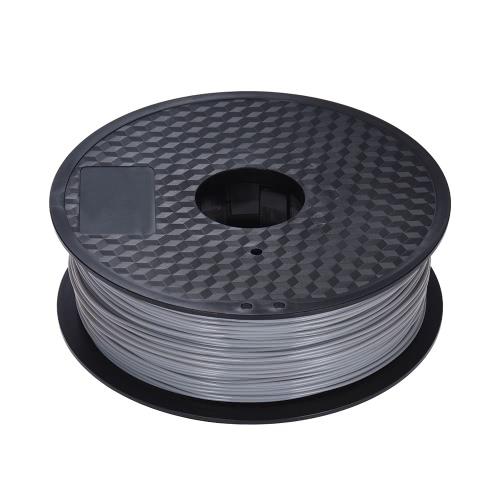 Color Optional PLA Filament 1kg-Roll 2.2lb 1.75mm for MakerBot Anet RepRap 3D Printer Pen Gray
