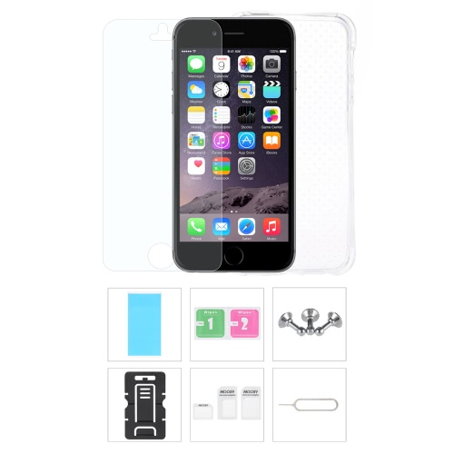 Buy Phone Accessories Protective Back Case Screen Film Protector Stand Card Slot Pin Earphone Dust plug iPhone 6 Plus 6S