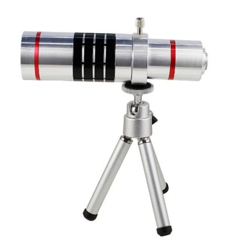 Buy Universal 18X Zoom Phone Telephoto Camera Lens Mini Tripod iPhone Android Smartphone Photography Accessory