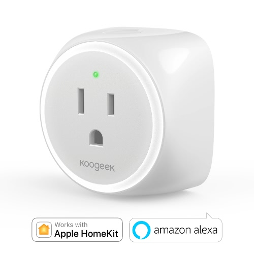 Koogeek Wi-Fi Enabled Improved Smart Plug for Apple HomeKit and Android Remote Control - US Plug
