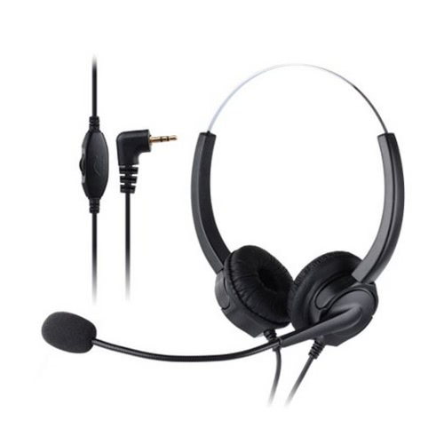 VH530 Professional Telephone Headset Clear Voice Noise Cancellation Customer Service Wired Head-mounted Headphone 2.5mm Earphone Jack for Call Center Digital Telephone