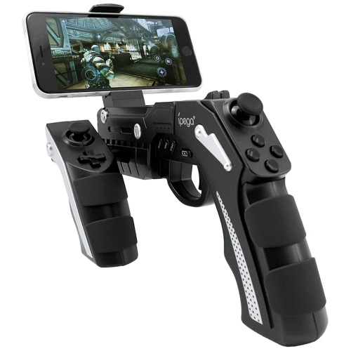 Buy iPega PG-9057 Phantom ShoX Blaster Bluetooth Gun Game Controller Wireless 3.0 Stand Android 3.2 IOS 7.0 Smartphones Tablet PC Win7 Win8 Win10 Computer