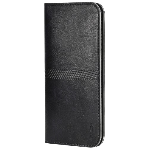 Buy ROCK Universal Luxury PU Leather Wallet Bag Phone Protective Case Card Slot Cash Pocket iPhone 6 6S Smartphones within 4.3~4.7inch