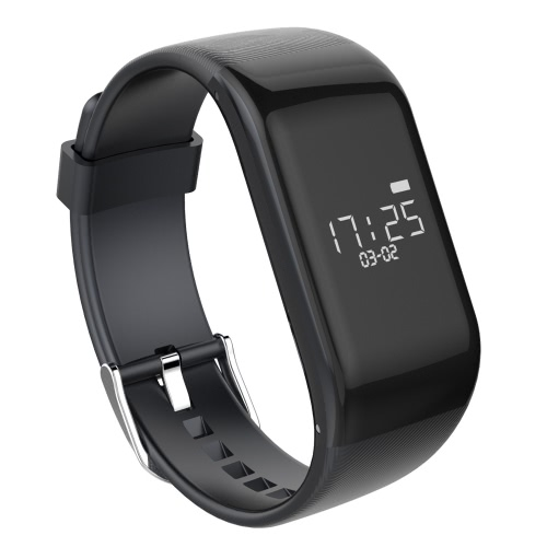Buy R1 Smart Sport Fitness Bracelet Tracker 0.66inch OLED Screen Display 64*48px Cortex-M4 Core BLE4.0 120mAh Battery Intelligent Sports Band Pedometer Calories Heart Rate Sleep Monitor Call Reminder Wrist iPhone 6 6S Plus Samsung S6 S7 Smartphones iOS Android Devices