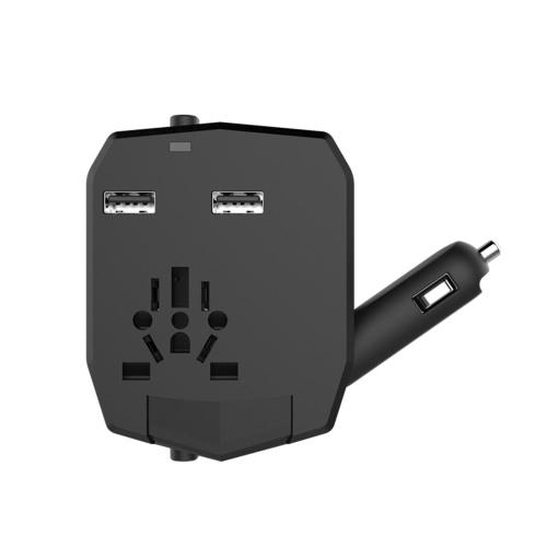 Universal International One Armor World Travel Adapter Car Charger 2.5A Dual USB Ports US AU UK EU Plug Socket Power Converter
