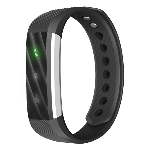 ID115 Smart Band 0.86inch OLED Screen Bluetooth Sports Wristband Step Pedometer Calorie Burnt Automatic Sleep Monitoring Call/Message Alert Alarm Clock Low-battery Reminder Anti-lost Remote Camera Control Activity Data Sharing Intelligent Sports Bracelet iPhone 7 6S plus Samsung S6 S7 Plus Xiaomi Huawei iOS Android Smartphones