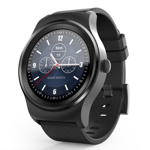 Buy SAM-R Full Round Screen Smart Watch 1.3inch IPS Capacitive Multi-touch Panel Display MTK2502C-ARM7 Chip 64MB+128MB Memory BT4.0LE+EDR3.0 300mAh Battery Heart Rate Monitor Pedometer Sleep BT Call Anti-lost Smartwatch iPhone Android