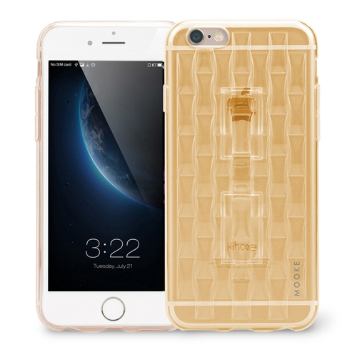 MOOKE Luxury Super Flexible TPU Protective Case Cover with Falling Preventing Ring Phone Stand Functions for iPhone 6 6S 4.7