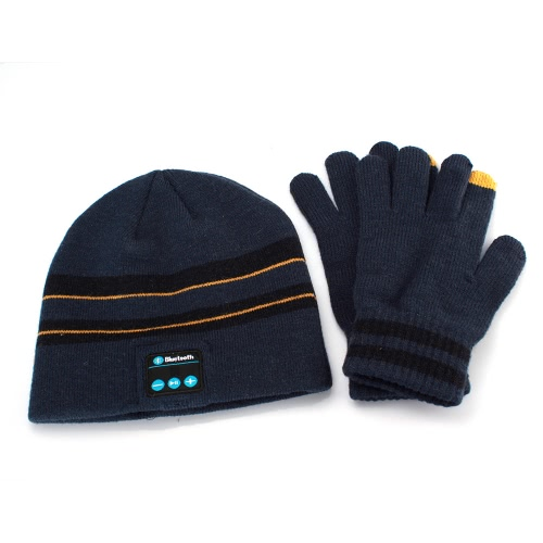 Buy Best Collaboration Unisex Winter Soft Warm Hat Wireless Bluetooth Smart Cap Headset Headphone Speaker Finger Screen Touch Gloves Mobile Phone Tablet Pad Cash Machine