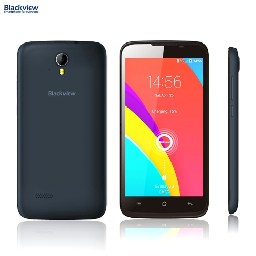 """Blackview Zeta 3G WCDMA GSM MTK6592 Octacore 1.4GHz Smartphone 5.0"""" HD IPS Android 4.4 1GB RAM 8GB ROM 5MP 8MP Dual Cameras от Tomtop.com INT"""