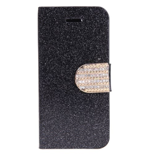 Fashion Wallet Case Flip Leather Stand Cover with Card Holder for iPhone 5S 5C 5 Black от Tomtop.com INT