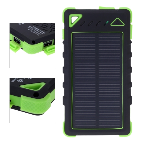 Buy 8000mAh Solar Charger Dual USB/Micro Ports Power Bank External Battery Smartphone iPad Camera iPhone Samsung