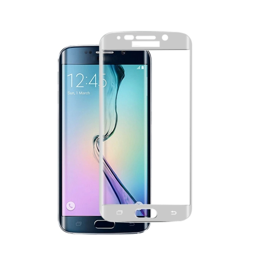 Premium Tempered Glass Screen Protector Film Cover Curved Membrane for Samsung S6 edge Overall Protective Frame Arc Glass 9H Ultrathin High Transparency Anti-scratch Anti-dust Explosion-proof
