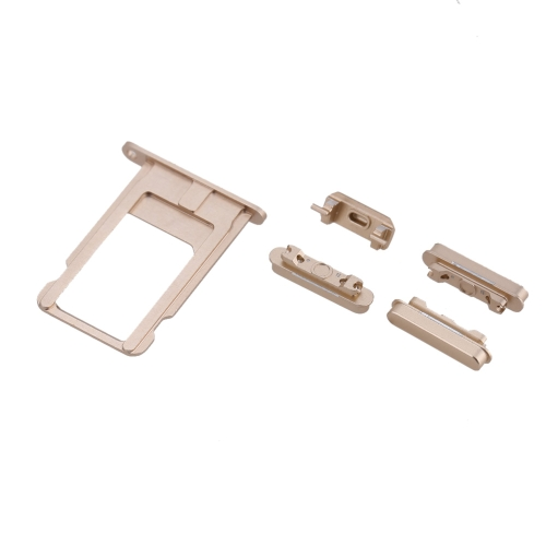 Buy 5Pcs/set Replacement Parts iPhone 6 Plus Side Buttons Sim Card Tray Volume Keys Power Keypad Vibrator Key Gold