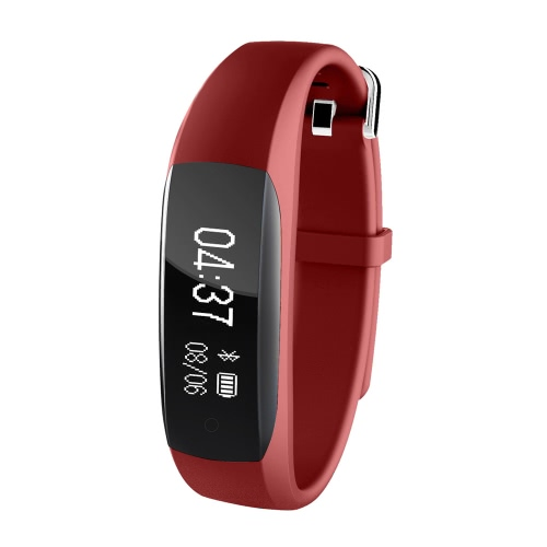 Lenovo-HW01 Smart Band 0.91inch OLED Screen 128*32pixel Bluetooth 4.2 Ultra-low Power 85mAh Battery IP65 Sports Band Heart-rate Pedometer Sleep Monitor Call Reminder Vibrating Alarm Anti-lost Remote Camera Intelligent Sports Bracelet iPhone 7 6S plus Samsung S6 S7 Plus Xiaomi Huawei iOS Android Smartphones