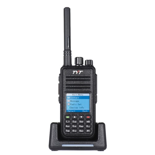 TYT MD-380 DTMF DMR Digital Transceiver Mobile 2-way Radio Walkie Talkie LCD Color Screen UHF FM Digital Analog Signal VOX CTCSS/DCS LED Backlight Scan Alarm Hand Held with Charging Stand