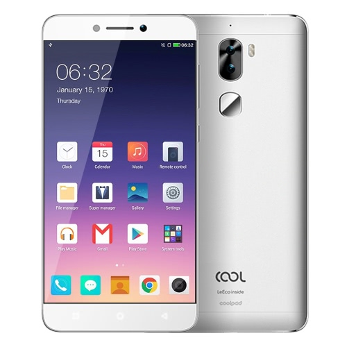 Buy Letv Cool 1 dual LeEco 4G LTE Smartphone 5.5inch FHD Screen 1920*1080px Snapdragon 652 Octa Core 64Bit Processor 1.8GHz Android 6.0 OS 3GB RAM 32GB ROM 13.0MP+8.0MP Dual Camera 4060mAh Battery Standby Fingerprint ID GPS Type-C Mobile Phone