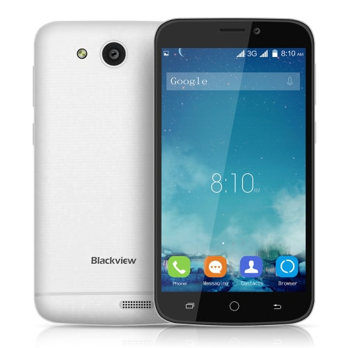 "Original Blackview A5 3G WCDMA Smartphone 4.5"" Screen Display 480*854pixel MTK6580 Quad-core 1.3GHz Android 6.0 OS 1GB RAM 8GB ROM 5.0MP Dual SIM Card 1850mAh Battery от Tomtop.com INT"