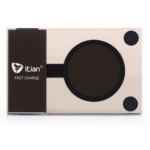Buy Originial Itian A10 10W Slim Fast Wireless Charger Transmitter Qi Charging Pad Samsung Galaxy S7 S6 Edge Plus LeTV One Max Pro Xiaomi 5 LG G3 G2 Google Nexus 4 6 7 Nokia 920 Qi-enabled Devices
