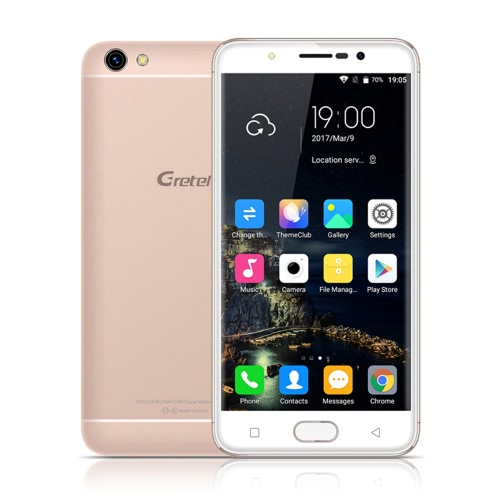 "Gretel A9 4G Smartphone MTK6737 64-bit 1.25GHz Quad Core 5.0"" 2.5D HD 1280*720P Screen Android 6.0 2GB RAM 16GB ROM 2MP+8MP Cameras Fingerprint OTG Metal Body 2300mAh Battery WiFi GPS"