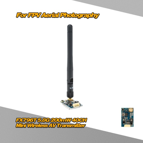 Buy FX796T-L 5.8G 25mW 40CH Mini Wireless AV Transmitter 5V Output FPV Aerial Photography