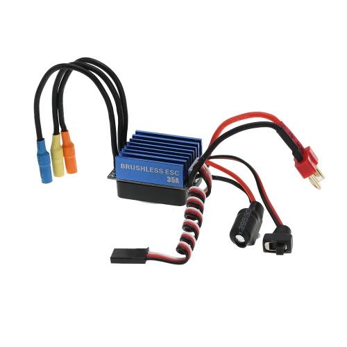 Buy 2845 3100KV 4P Sensorless Brushless Motor & 35A ESC Electronic Speed Controller 1/14 1/16 1/18 RC Car