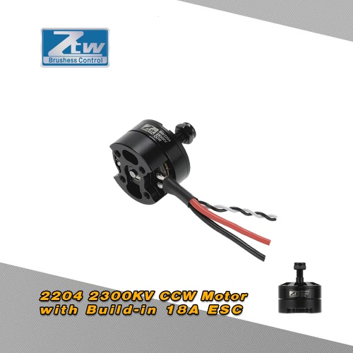 Buy Original ZTW Black Widow 2204 2300KV Brushless CCW Motor Built-in 18A ESC 2 1 Series QAV250 Racing Drone