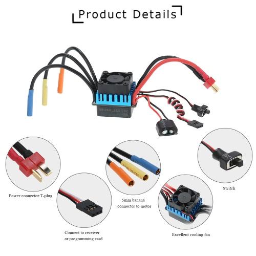 Buy 3650 3300KV/4P Brushless Motor & 45A ESC LED Programming Card Combo Set 1/10 RC Car